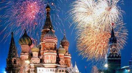 Салют на Красной площади 9 мая 2014