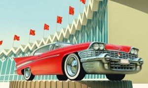 Выставка ретро-автомобилей в саду «Эрмитаж»