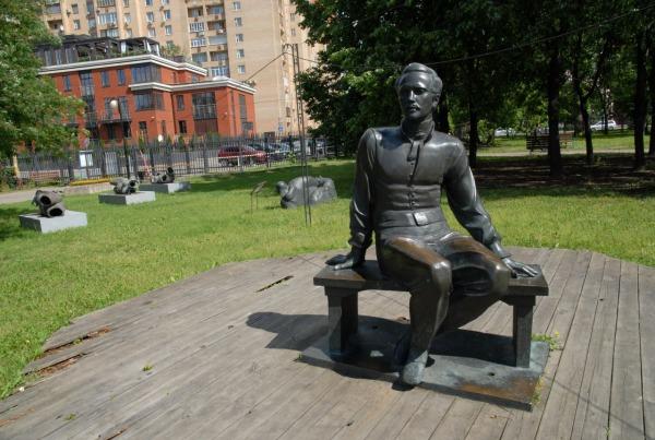 Памятник М.Ю. Лермонтову в Парке искусств «Музеон»
