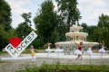 Логотип «Я люблю Москву» в парке Горького