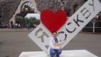 Логотип «Я люблю Москву» около Московского зоопарка