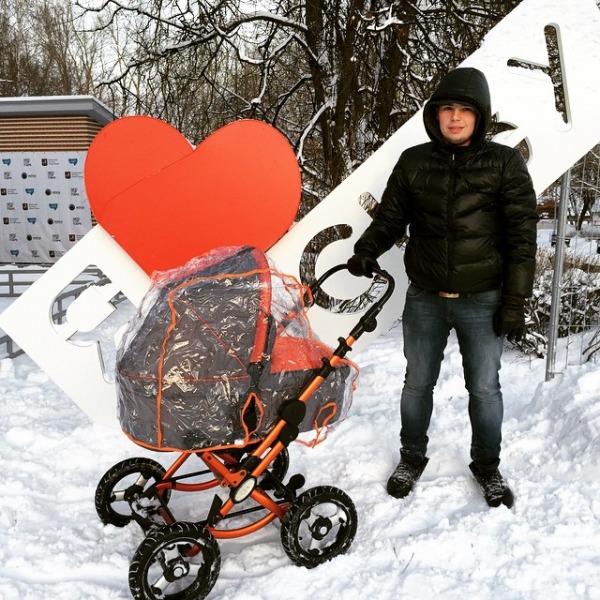 Логотип «Я люблю Москву» в парке «Северное Тушино»