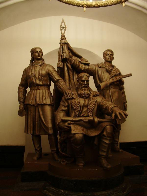 Скульптура «Белорусские партизаны»